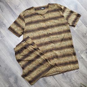 Vintage Glamour Leopard Print Pajama Set
